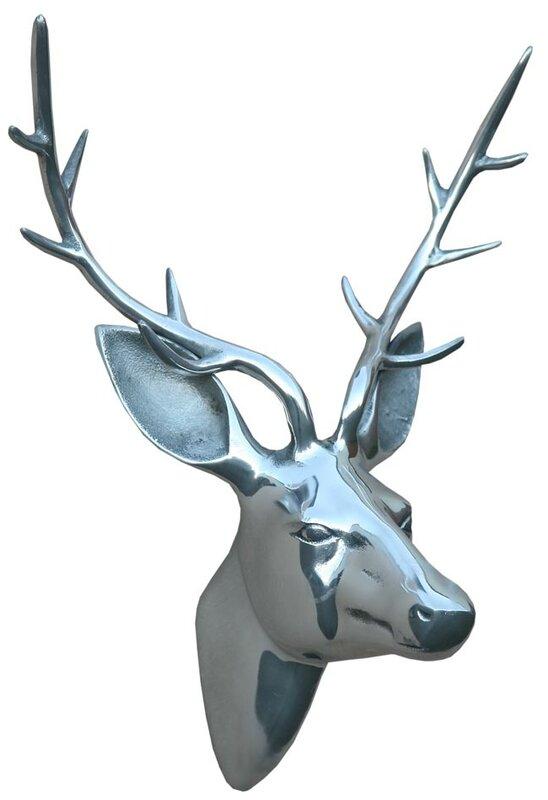 Homestead Living Aluminium Stag Head Wall Décor & Reviews ...
