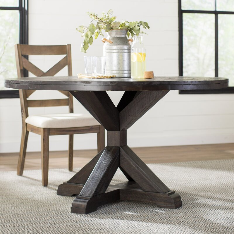 Colborne Solid Wood Dining Table Reviews Birch Lane