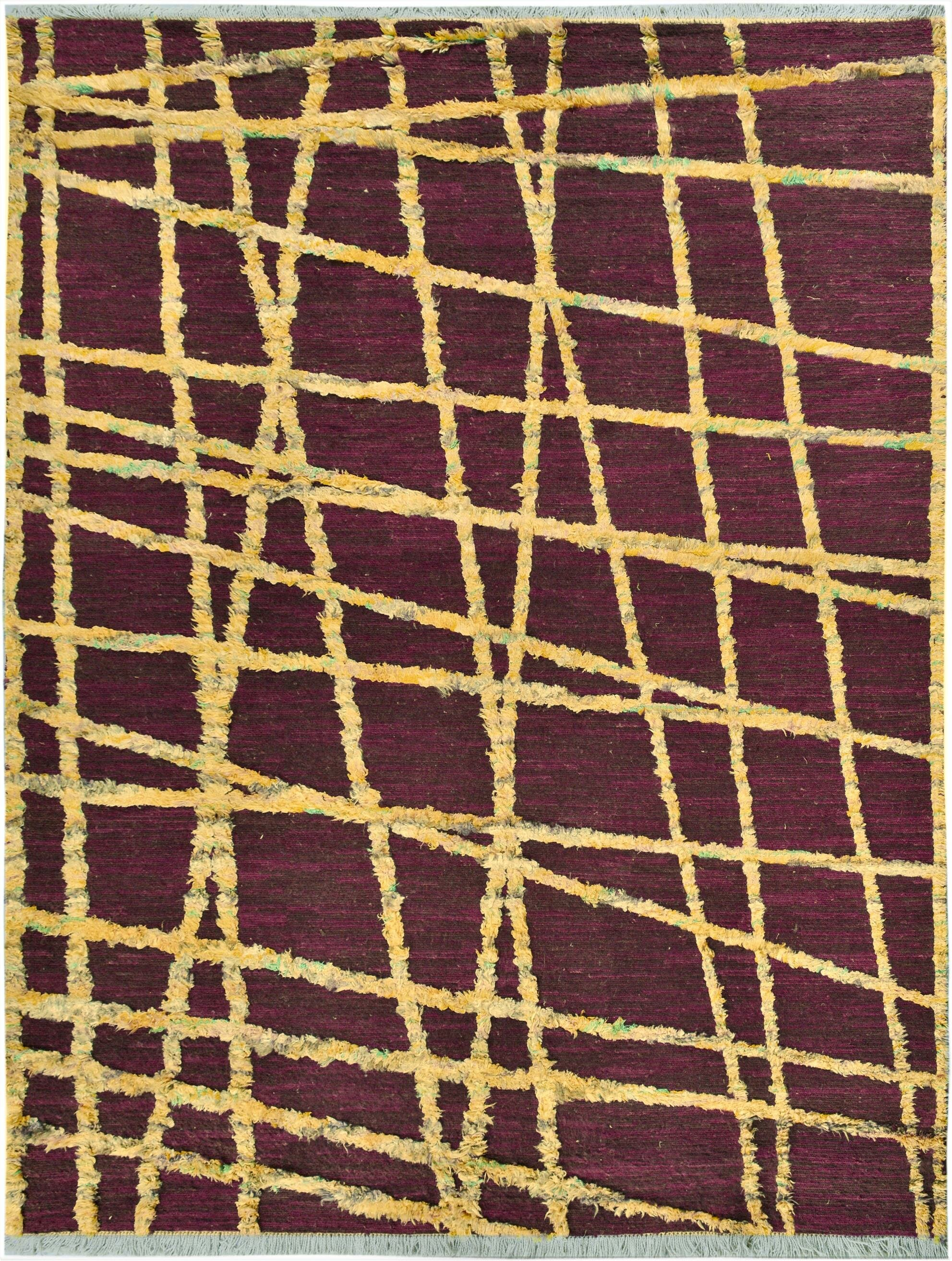 Isabelline One Of A Kind Fairmount Hand Knotted Wool Purple Gold