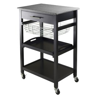 Julia Kitchen Cart with Granite Top