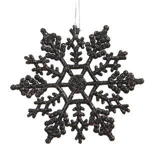 snowflakes glitter christmas christmas ornament set of 12