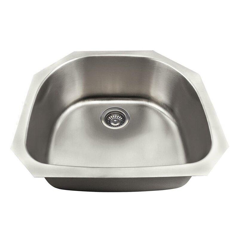 stainless steel 24   x 24   undermount kitchen sink mrdirect stainless steel 24   x 24   undermount kitchen sink      rh   wayfair com