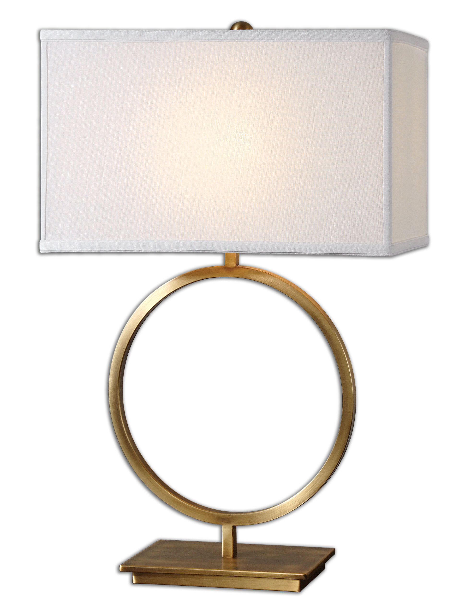 Britley 28 75 Table Lamp With Rectangular Shade Reviews Allmodern