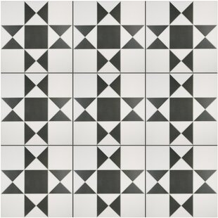 Narcisso Blanco 13 X Porcelain Field Tile In Black White