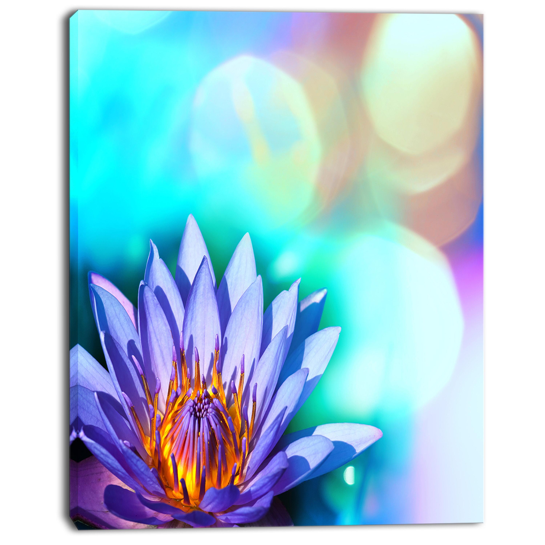 Designart blossoming purple lotus flower graphic art on wrapped designart blossoming purple lotus flower graphic art on wrapped canvas wayfair izmirmasajfo