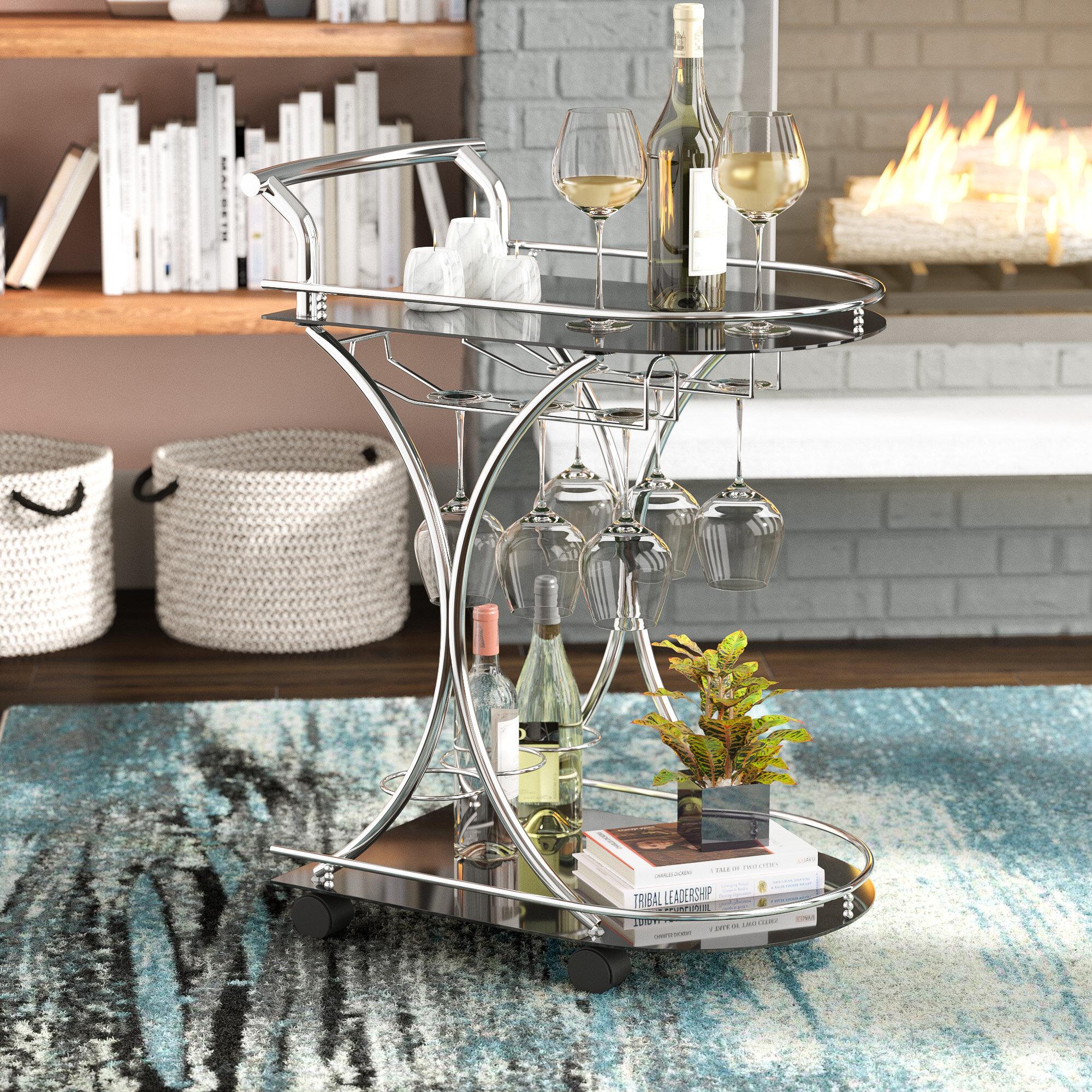 Ebern Designs Baumbach Bar Cart U0026 Reviews | Wayfair