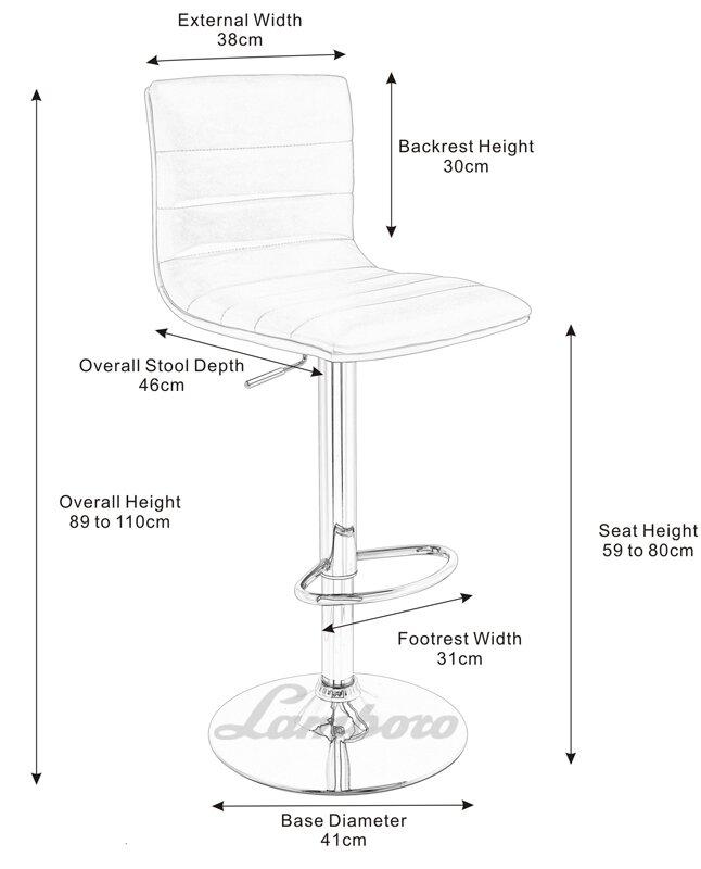 lamboro aldo height adjustable bar stool reviews wayfair co uk