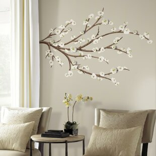 White Blossom Branch Wall Decal