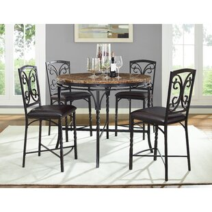 Vaughan 5 Piece Pub Table Set