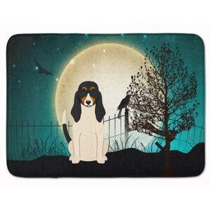 Halloween Scary Swiss Hound Memory Foam Bath Rug