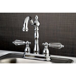 Kingston Brass Wilshire 2 Lever Handle Deck Mounted Bar Faucet