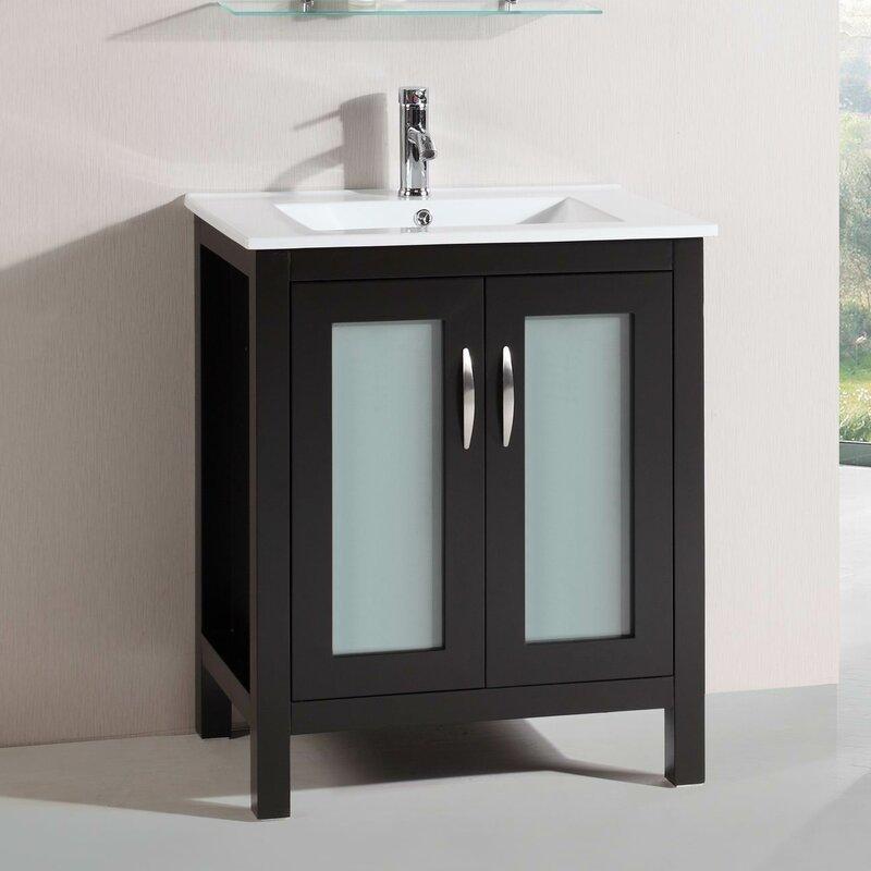 Modern Freestanding 28 Single Bathroom Vanity Set