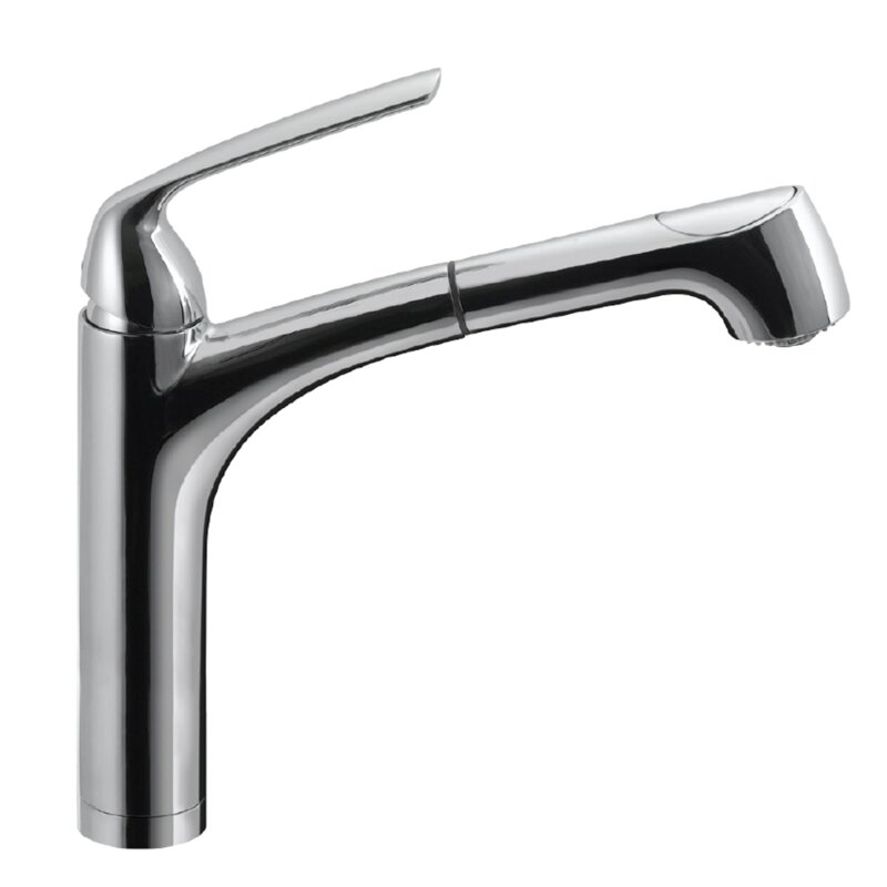 Houzer Calia Pull Out Single Handle Kitchen Faucet & Reviews | Wayfair
