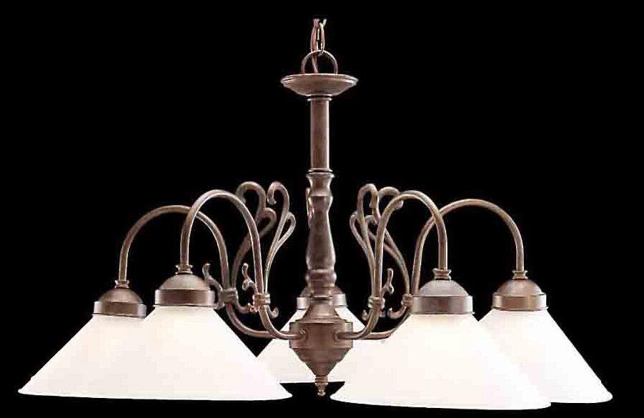 Classic Lighting Billings 5 Light Shaded Chandelier Reviews Wayfair