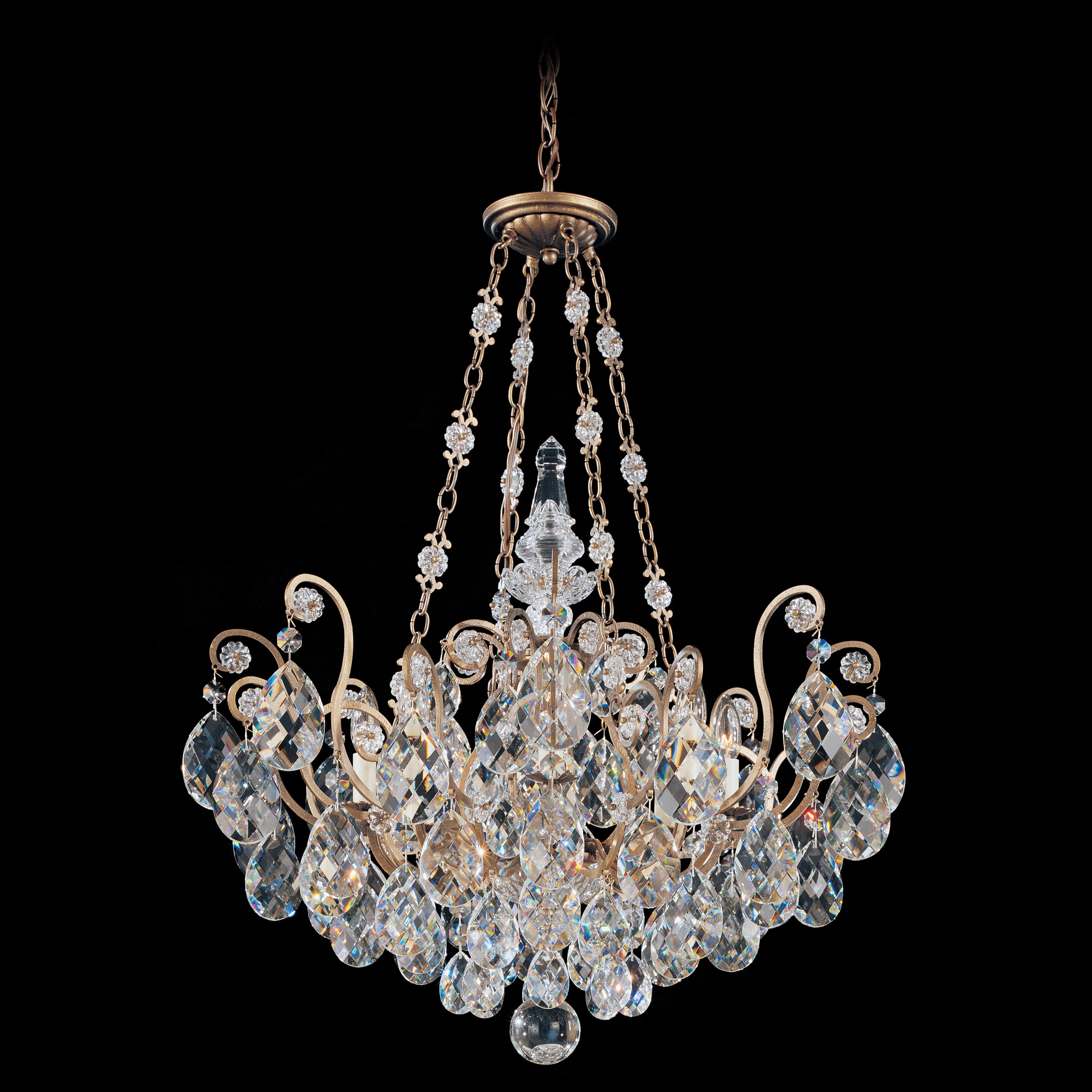 Schonbek Renaissance 8 Light Crystal Chandelier & Reviews