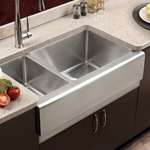 Epicure 32 88 X 20 Farmhouse Double Bowl 70 30 Kitchen Sink