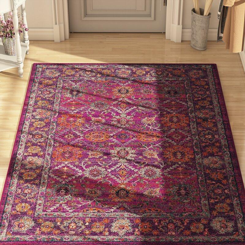 Mistana Hillsby Pink/Purple Area Rug & Reviews