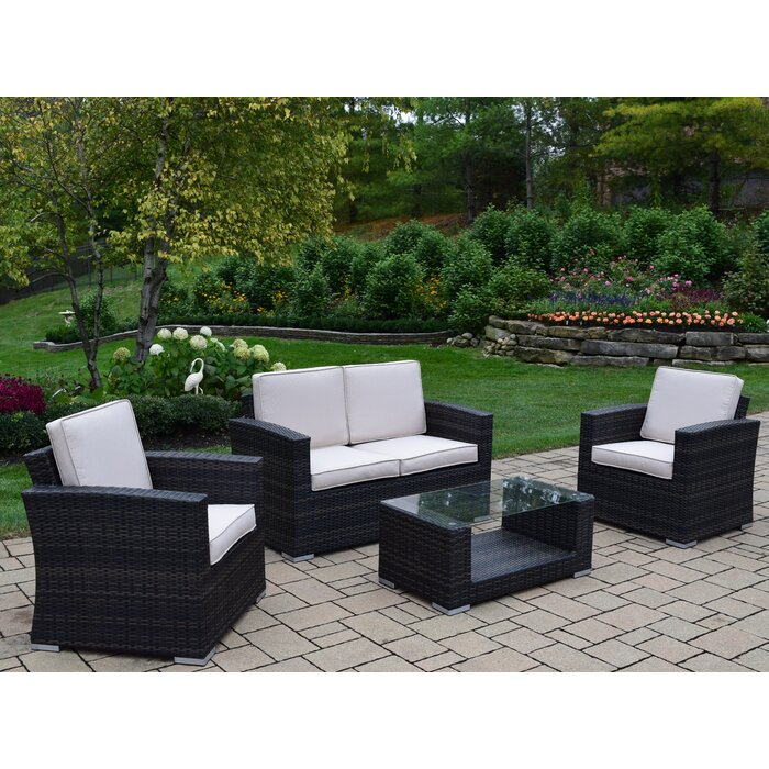 Terrific Borneo 4 Piece Sofa Set With Cushions Gmtry Best Dining Table And Chair Ideas Images Gmtryco