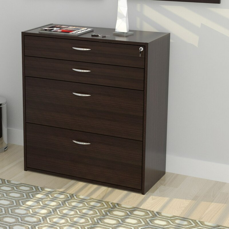 Inval 4 Drawer Storage & Filing Cabinet & Reviews | Wayfair