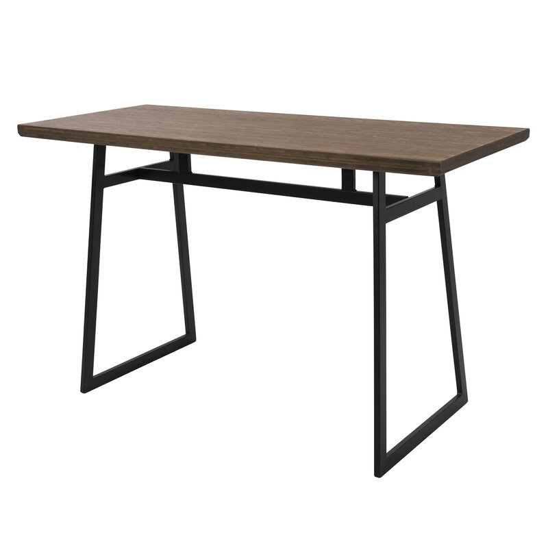 Platane Industrial Counter Height Dining Table Reviews AllModern