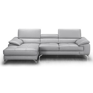 Liam Leather Sectional  sc 1 st  AllModern : grey sofa with chaise - Sectionals, Sofas & Couches