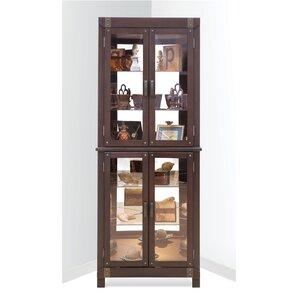 Espresso Display Cabinets You'll Love | Wayfair
