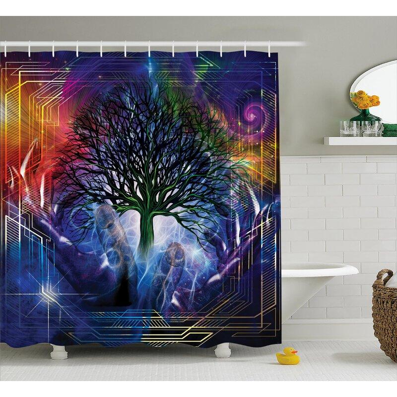 Nature Leafless Tree Hippie Shower Curtain