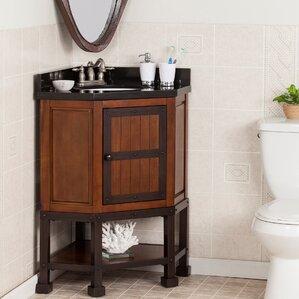 Corner Bathroom Vanities You\'ll Love | Wayfair