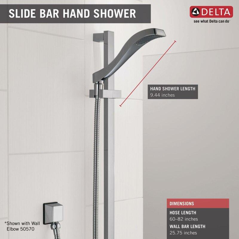 Delta Dryden Full Slide Bar Shower Head & Reviews | Wayfair