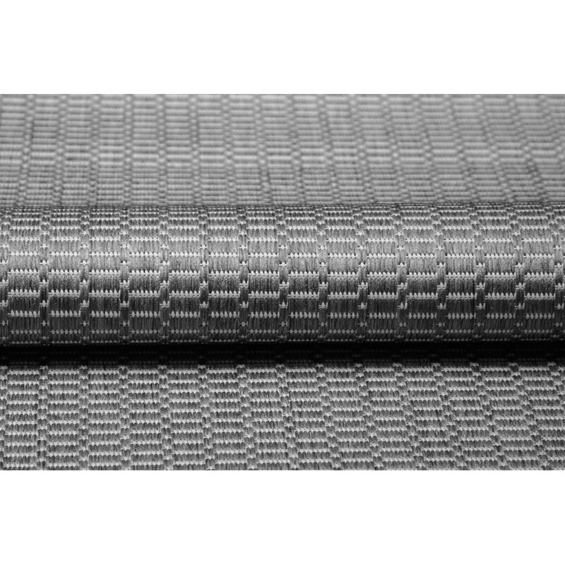 Ariadne Saddle Stitch Gray Indoor Outdoor Area Rug