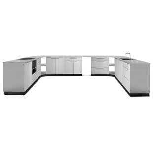 modular outdoor kitchen diy kitchen 17 piece outdoor bar center set modular wayfair