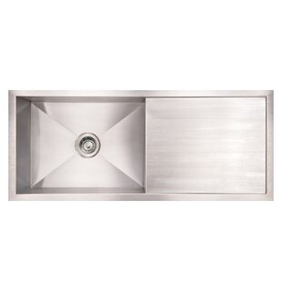 Kitchen sink with drainboard wayfair noahs 395 x 1875 commercial single bowl undermount kitchen sink with drain board workwithnaturefo