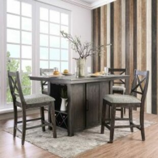 Islas 5 Piece Solid Wood Dining Set