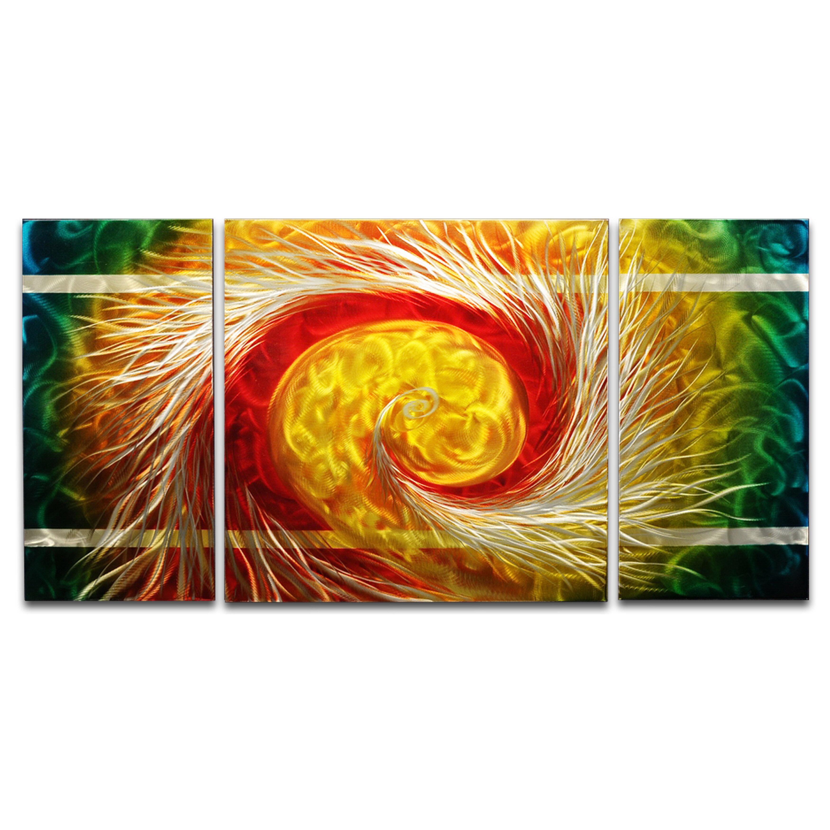 MetalArtscape The Phoenix 3 Piece Graphic Art Plaque Set | Wayfair