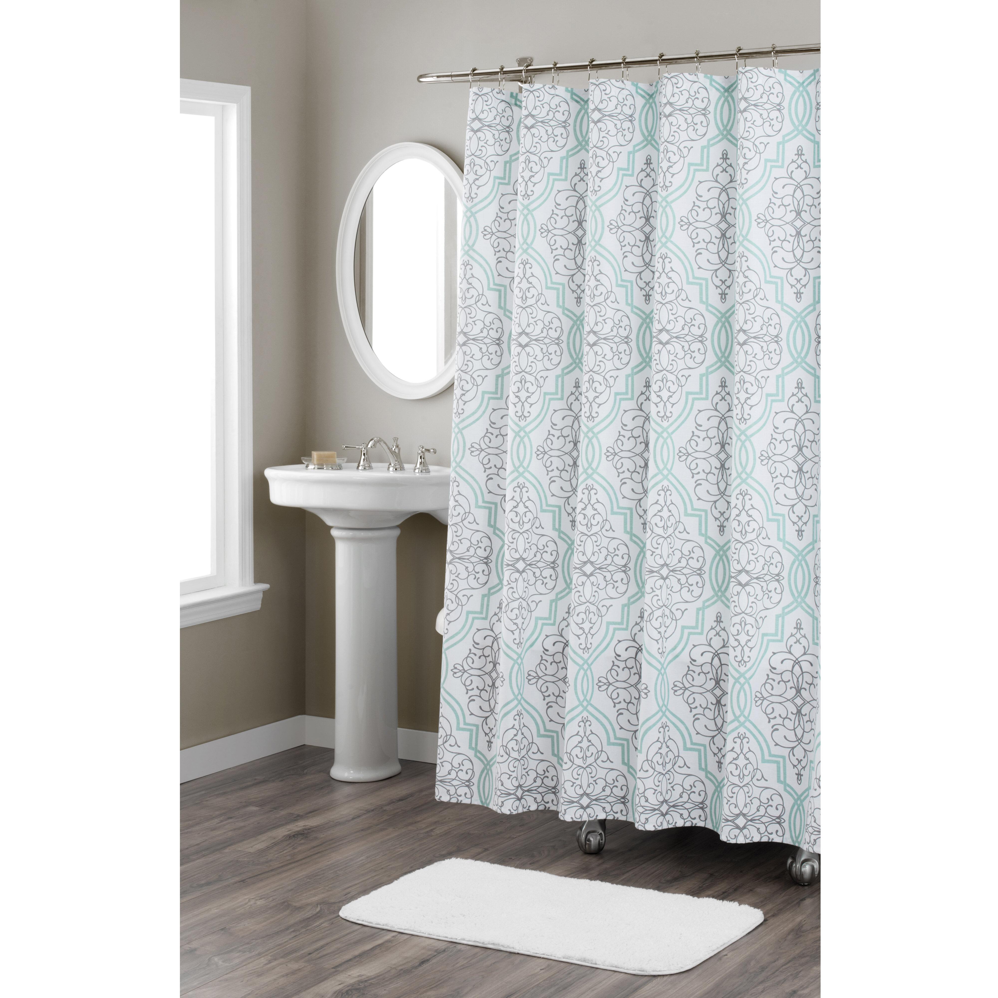 Nicole Miller Laurel Cotton Shower Curtain