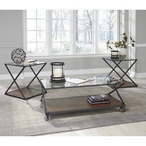 glass living room table set. Banilee 3 Piece Coffee Table Set Glass Sets You ll Love  Wayfair