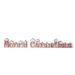 wood merry christmas sign