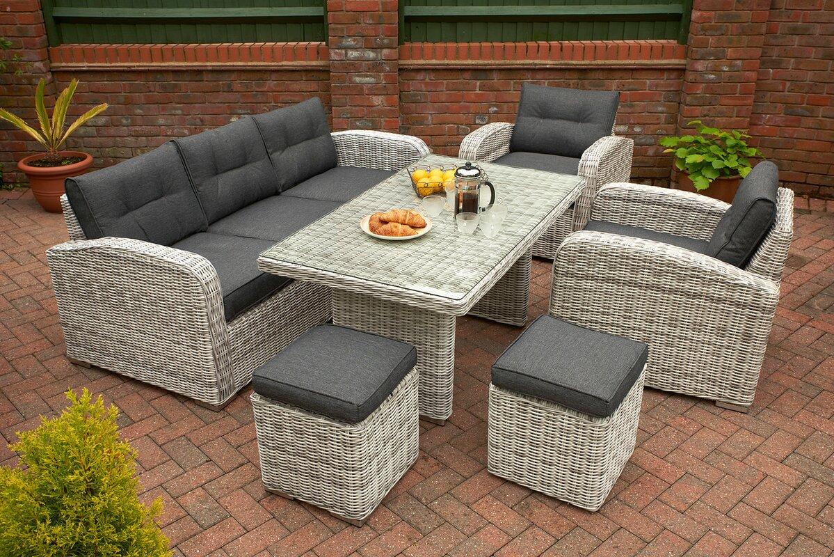 glendale leisure 5 tlg loungesofa set chadbury mit kissen bewertungen. Black Bedroom Furniture Sets. Home Design Ideas