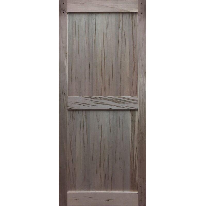 Kiby solid flush wood interior barn door reviews for Solid flush door