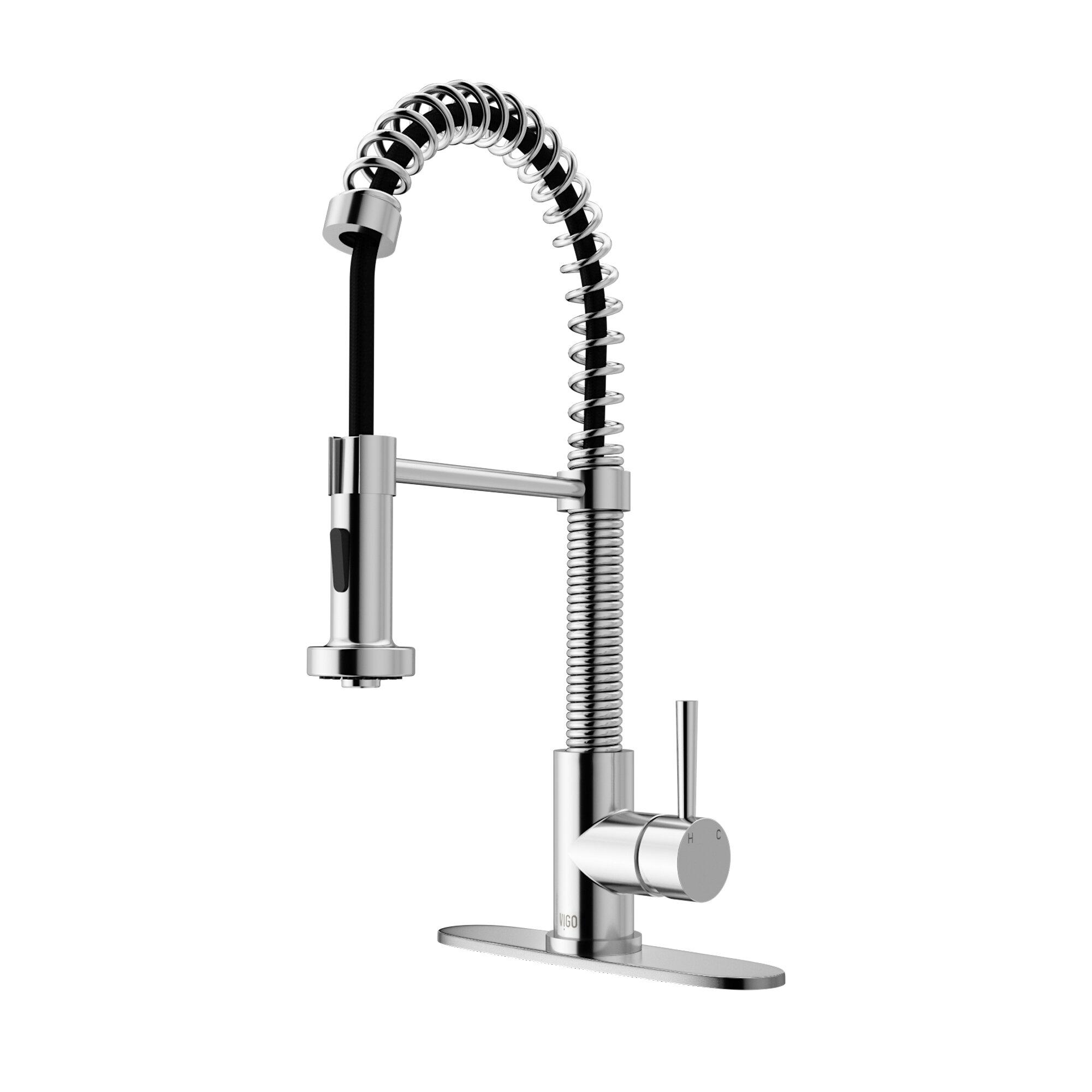 VIGO Edison Pull Down Single Handle Kitchen Faucet & Reviews   Wayfair