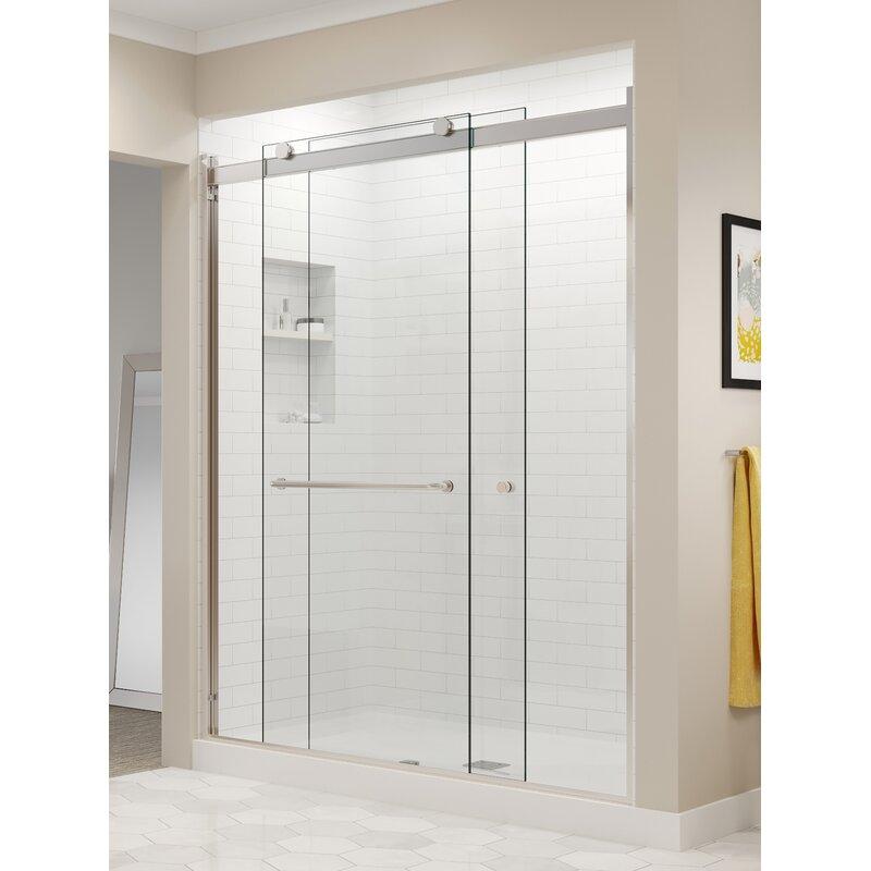 Basco Rotolo 48 X 76 Bypass Semi Frameless Shower Door Wayfair