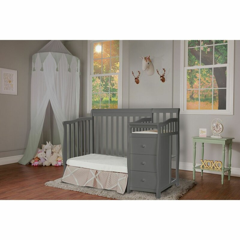 Dream On Me Jayden 3 In 1 Convertible Mini Crib And Changer Combo