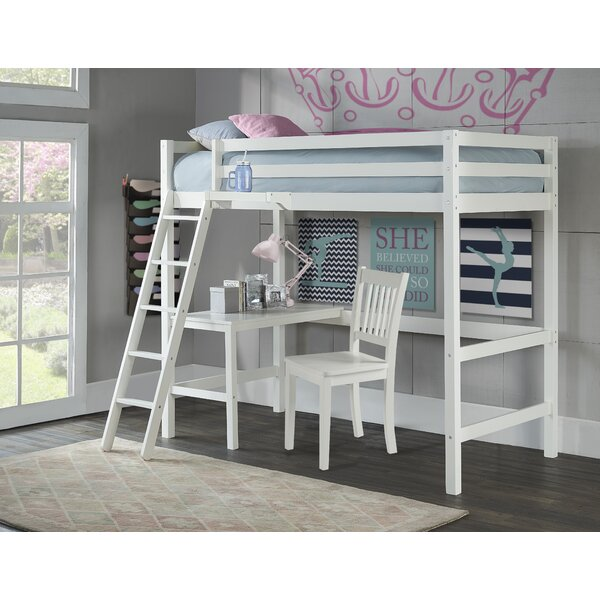 Birch Lane Twin Study Loft Bed With Hanging Nightstand Reviews
