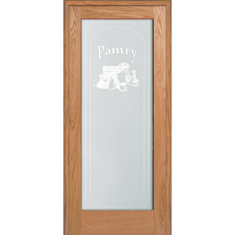 Verona Home Design Pantry Wood 1 Panel Red Oak Interior French Door