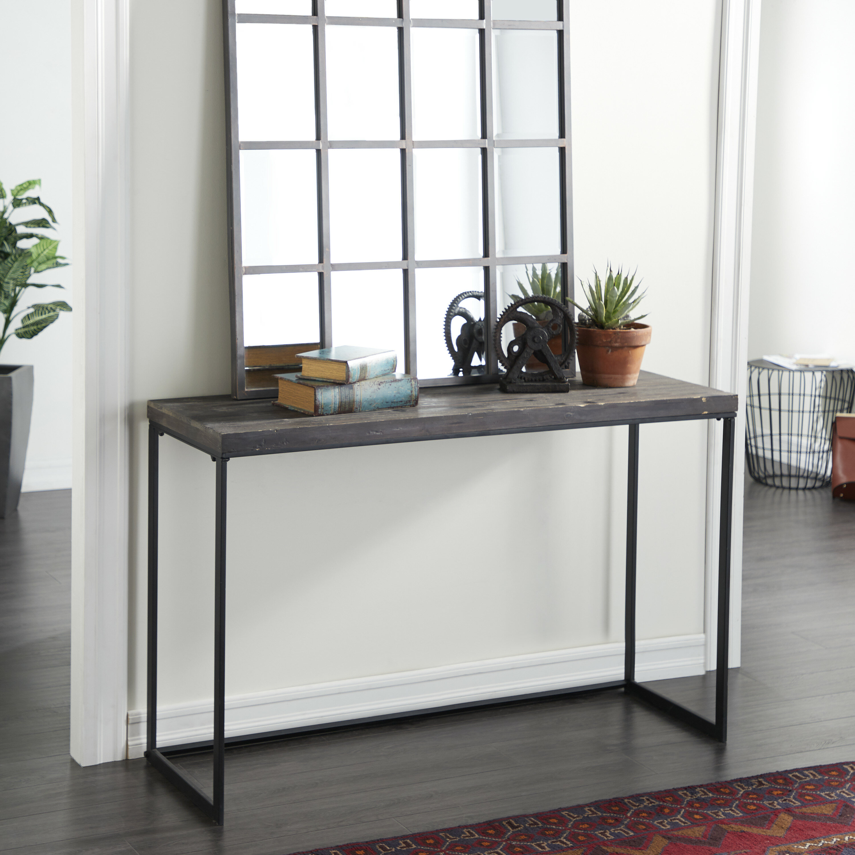 Corneau Metal And Wood Console Table