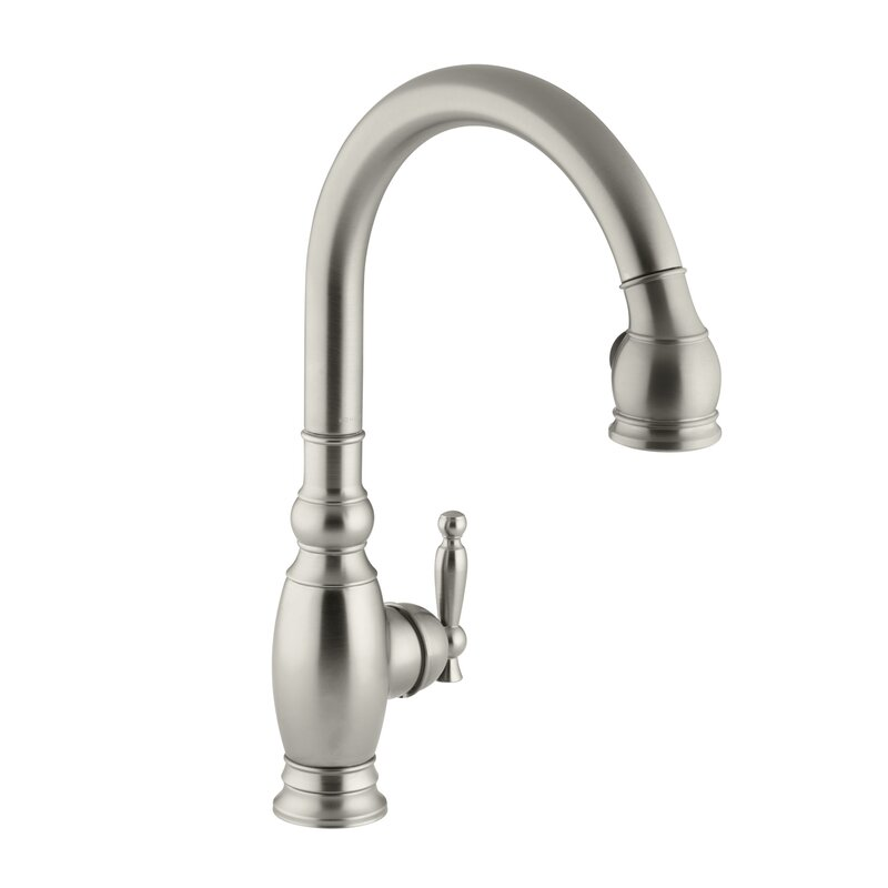 kohler vinnata single-hole or three-hole kitchen sink faucet with