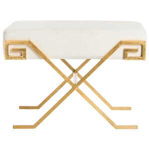 Mathis Greek Key Ottoman by Willa Arlo Interiors