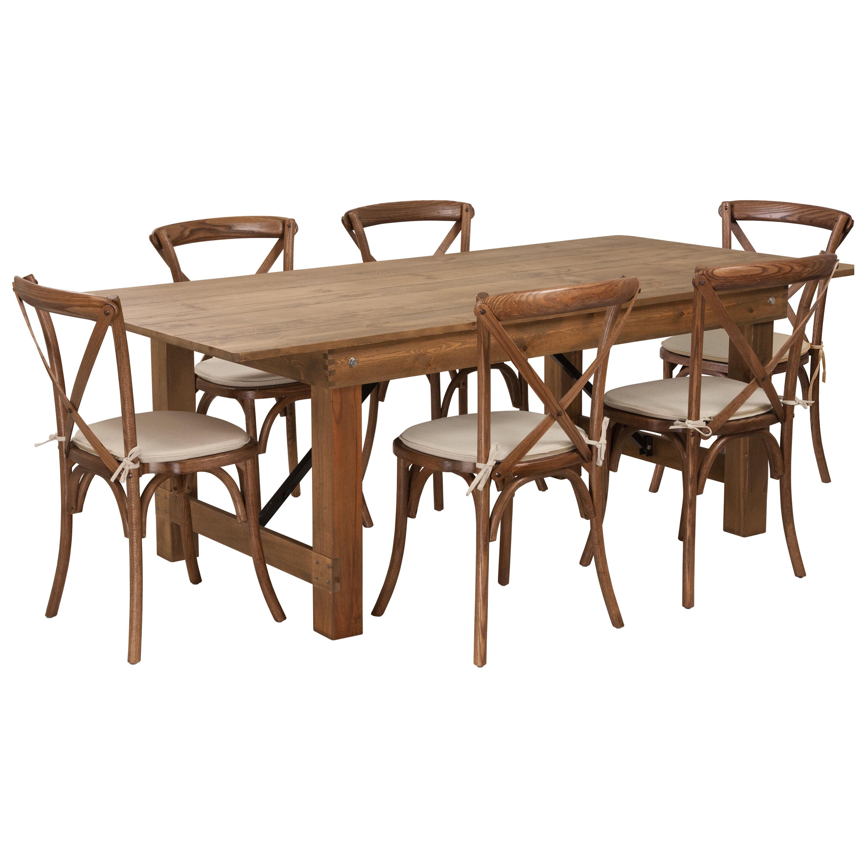 Charmant Gracie Oaks Pitre Rustic 7 Piece Dining Set | Wayfair