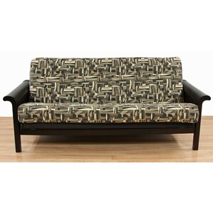 Geometric Box Cushion Futon Slipcover by Eas..
