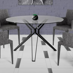 Clower Tempered Glass Top Dining Table by..